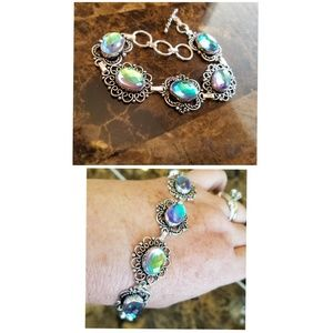 """Jewelry - Colorful color changing Rainbow Topaz Bracelet 8"""""""